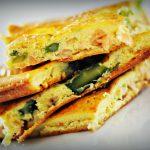frittata con asparagi e salmone al forno