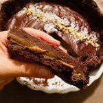 Torta al caramello salato e ganache al cioccolato